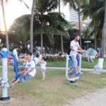 Nha Trang lắp đặt thêm 2 bộ dụng cụ thể thao dọc bờ biển